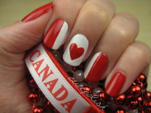 Canada Day Nails - Kanadai  körmök