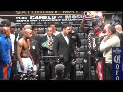 2012 mayweather vs cotto; canelo vs mosley weighins las vegas