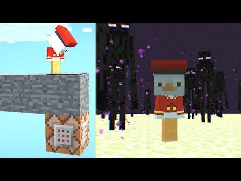 Diese Minecraft Falle teleportiert dich in das End😂.. Lucky Block Bedwars / Minecraft Falle bauen