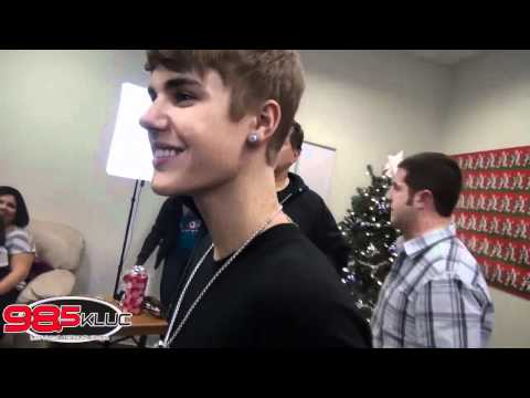 Justin Bieber Meets With Fans at KLUC Radio in Las Vegas 98.5