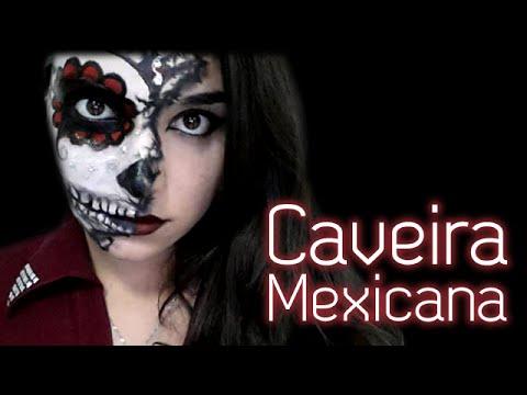 Caveira Mexicana - Maquiagem para o Halloween (Sugar skull)