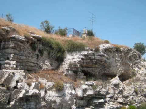 Golgotha + garden tomb Matthew 27 and 28