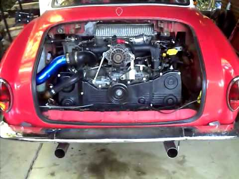 1968 VW Karmann Ghia Subaru EJ205 WRX engine
