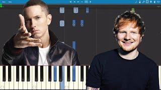 Download Lagu Eminem ft. Ed Sheeran - River - Piano Tutorial Gratis STAFABAND