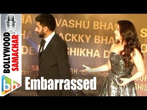 Abhishek Embrace Wife Aishwarya In Front Of Media At Sarabjit Red Carpet