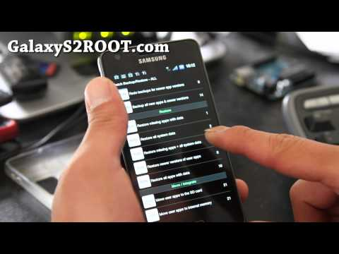 How to Backup/Restore Apps with Titanium Backup on Galaxy S2!