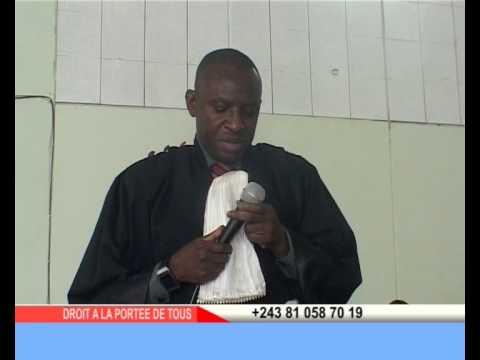 Audience Solennelle en mémoire du magistrat Masudi Claude ::: Emission Droits à la portée de tous