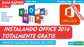 OFFICE 2016 PORTUGUES GRATUITO COMPLETO ORIGINAL