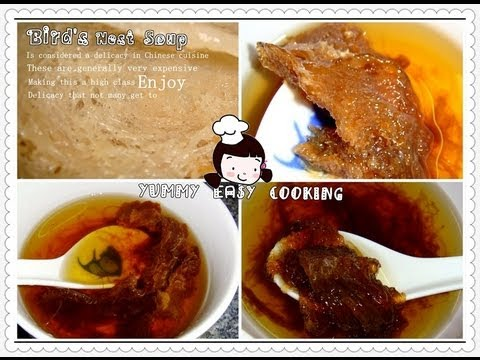 傳統炖燕窩湯 -traditional Bird's Nest Soup video