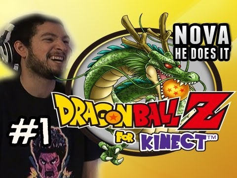 KAMEHAMEHA - Dragonball Z For Kinect Pt.1 FACECAM  Nova He Does It 