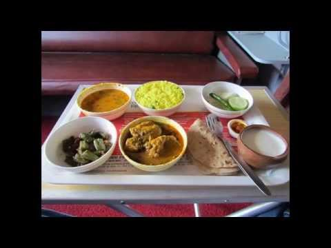 First AC Food Dibrugarh Town-New Delhi Rajdhani Express.