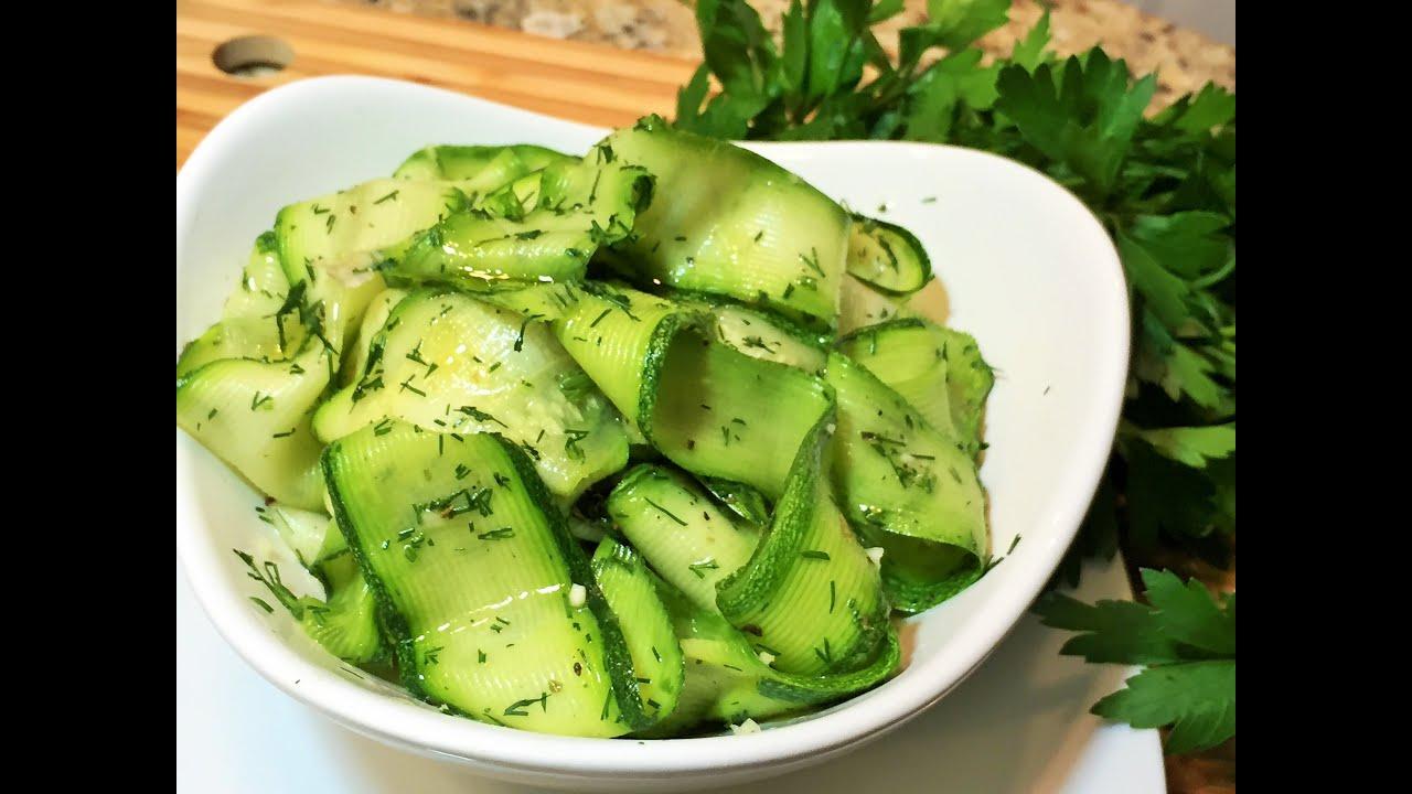 Как сделать салат из кабачков и перца