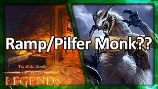 (TES: Legends) Ramp/Pilfer Monk?? vs. a Crazy Warrior Deck