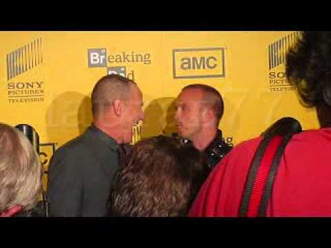 Giancarlo Esposito, Bryan Cranston, Anna Gunn and Aaron Paul at Breaking Bad season 4 premiere