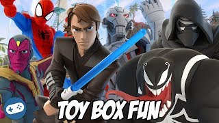 Heroes VS Villains Disney Infinity Toy Box Fun Gameplay Part 1