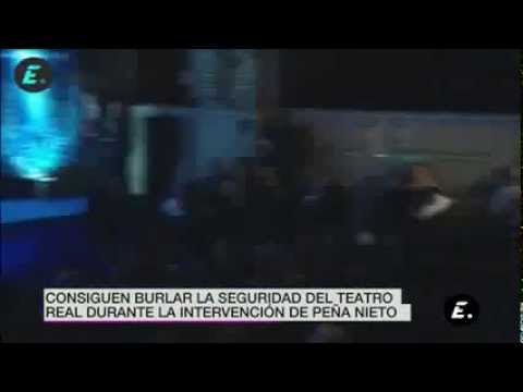 Interrumpen y le gritan asesino a Peña Nieto en España | Noticia 09/06/2014
