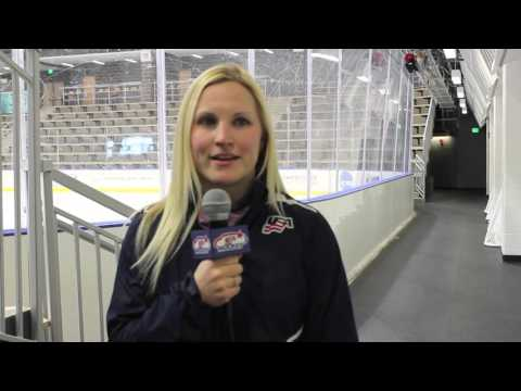 J. Lamoureux at 2016 U18 Women's Camp