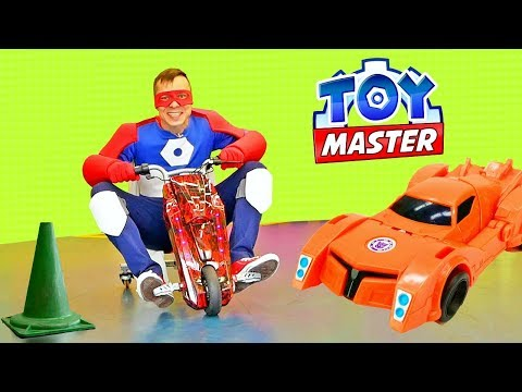 Роботы Трансформеры и Той Мастер. Игры в гонки на сегвейдроме!
