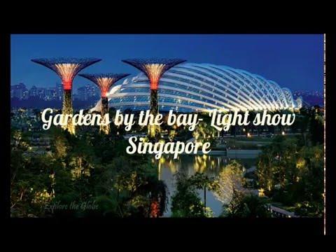 Gardens by the bay - Light show , Singapore