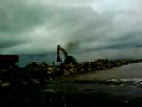 Pembangunan break water (pemecah ombak) pantai pancer puger