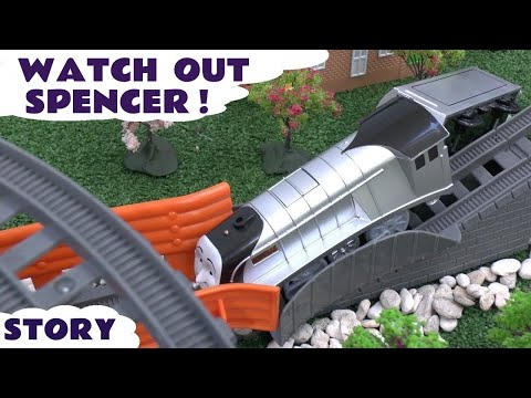 Thomas & Friends Play Doh Story Spencer's Accident Thomas Tank Playdough Crash Diggin Rigs Boomer video