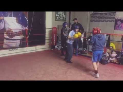 Sparring at Jimmy Egans Boxing Academy