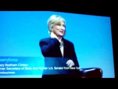 Hillary Clinton & Klaus Schwab at Dreamforce 2014 - San Francisco October  14, 2014