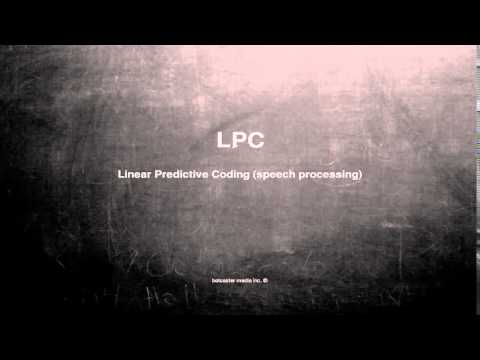 What does LPC mean