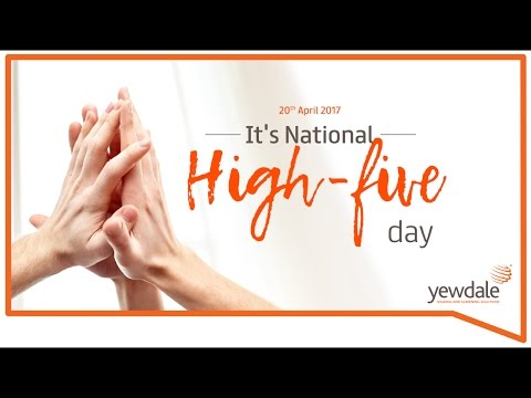 National High-five Day!