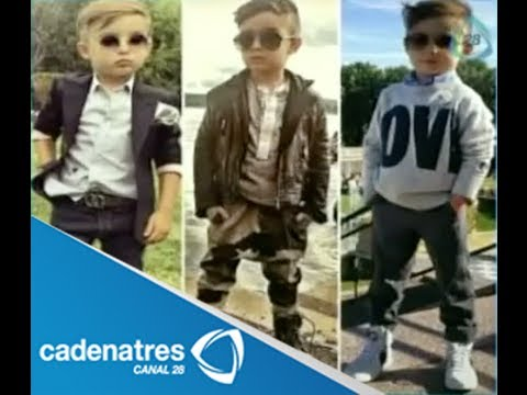 Niño de Monterrey vuelve loco a la moda mundial (VIDEO)