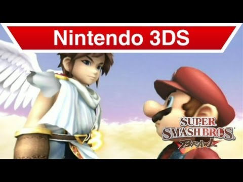 Nintendo 3DS - Kid Icarus: Uprising; Pit & Mario in Super Smash Brothers Brawl