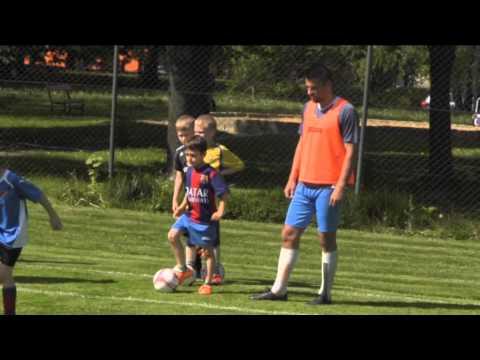 Společný trénink áčka a dětí