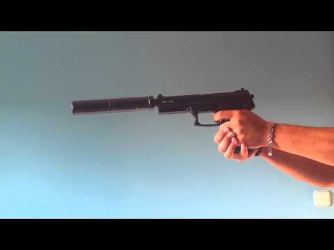 Review MK23 Special Operations SOCOM ASG Gas. Airsoft Gun
