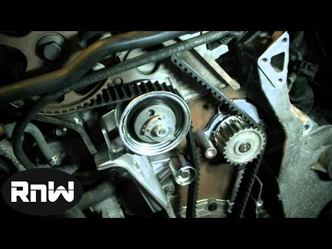 How to replace the timing belt on a 2004 VW Passat Audi 1 8L Turbo Engine Part 3