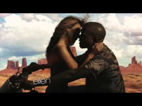 Kanye West's  Bound 2  Clip  Ft Kim Kardashian Topless on Motorcycle