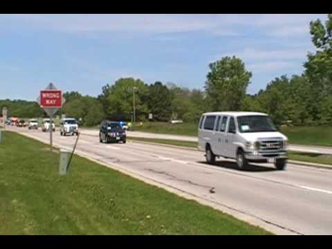 President Obama Motorcade leaving Green Bay