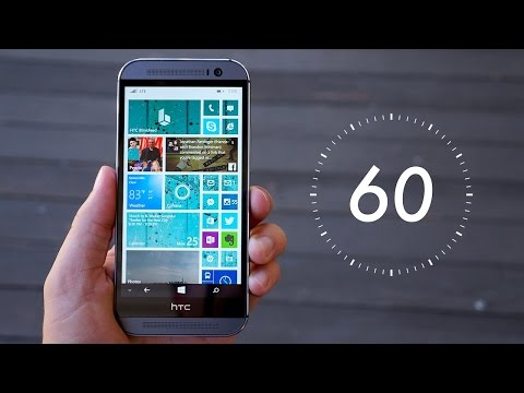 HTC One M8 for Windows Review (60-Second Edition)