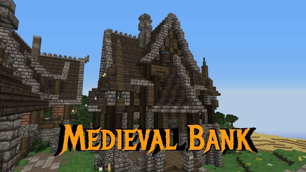 Minecraft Gundahar Tutorials Medieval Bank 1 Youtube