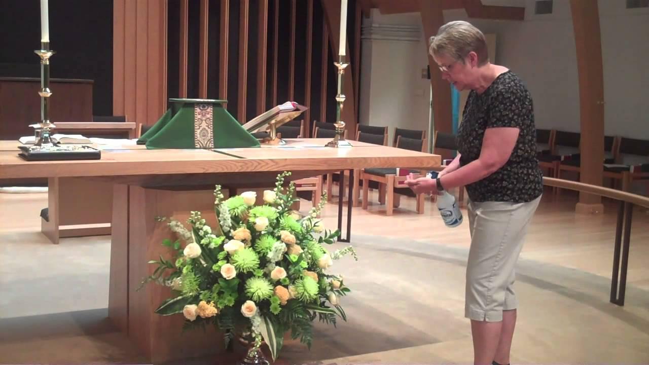 Altar Flower Arrangement IN PLACE - YouTube