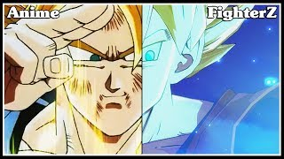 Dragon Ball FighterZ ALL EASTER EGGS (OPENINGS/DRAMATIC FINISHERS) | ANIME COMPARISON