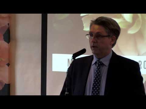 Kevin Hyland (Anti-Slavery Commissioner) speaking at the preview for the Modern Slavery Garden
