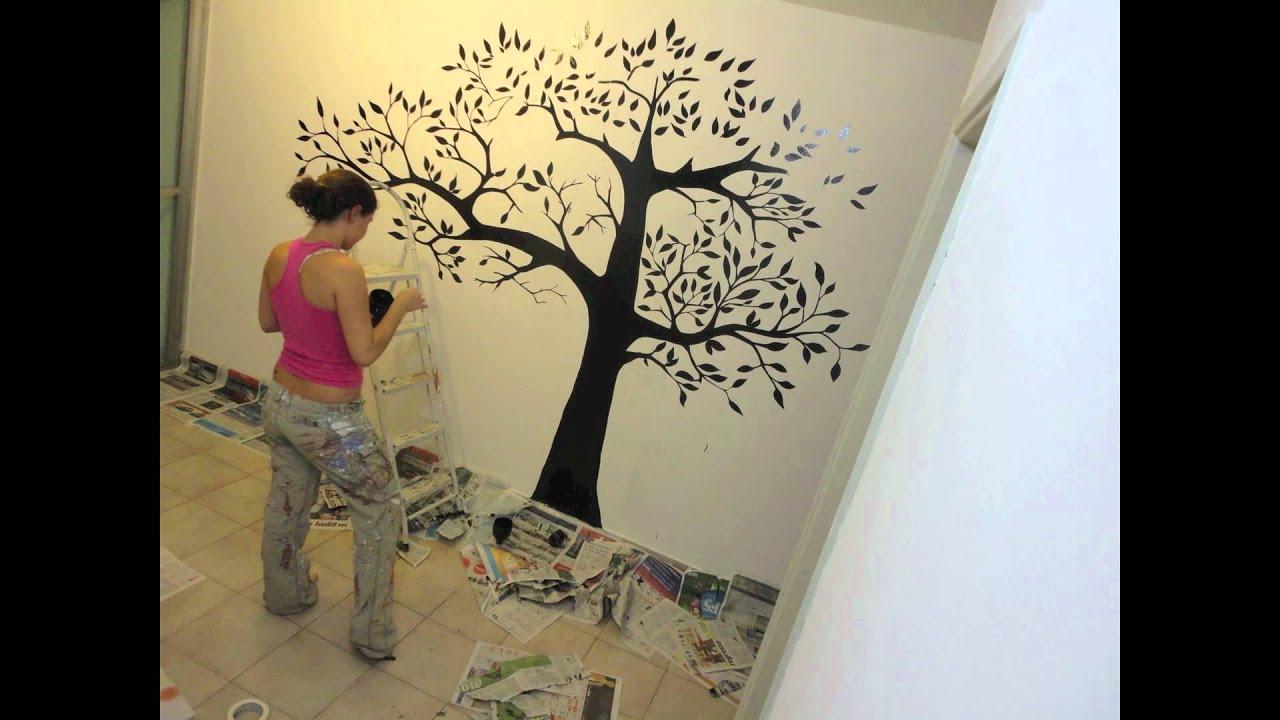 Nat lia faria design youtube for Como colocar papel mural