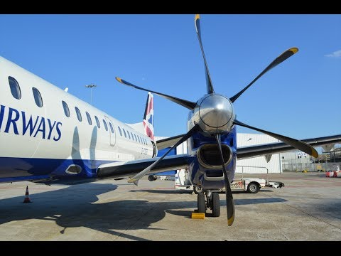 British Airways BA4458 Rotterdam (RTM) - London City (LCY) Saab 2000 G-CDEB *FULL FLIGHT* [1080p HD]