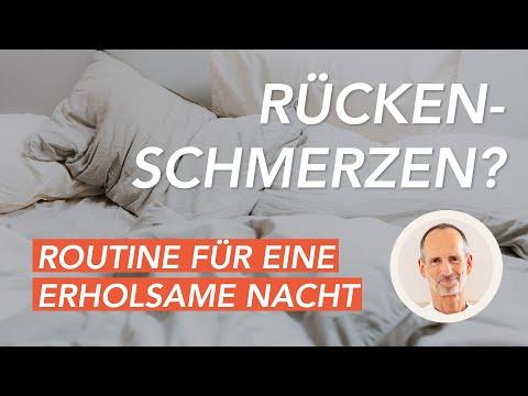 Deine Routine für einen Schlaf ohne Rückenschmerzen