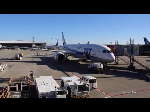All Nippon Airways ANA 787 Dreamliner Business Class Part 2 Tokyo - Brussels