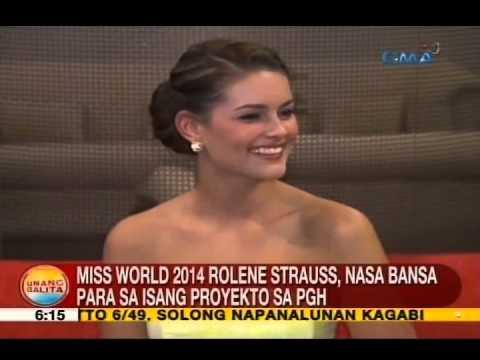 UB: Miss World 2014 Rolene Strauss, nasa bansa para sa isang proyekto sa PGH