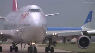 """Virgin 75"" Boeing 747-400 Takeoff"