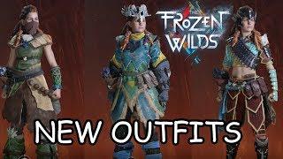 HORIZON ZERO DAWN The Frozen Wilds DLC - ALL NEW OUTFITS / ARMOR