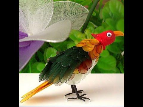Поделки из подручных материалов своими руками птицу