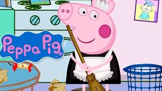 Peppa Pig Clean Room Game - Farmer In The Dell Nursery Rhyme - From Baby Teacher